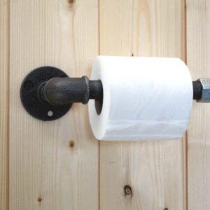 porte papier toilette style industriel métal