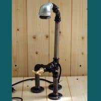 Lampe style industriel avec interrupteur robinet