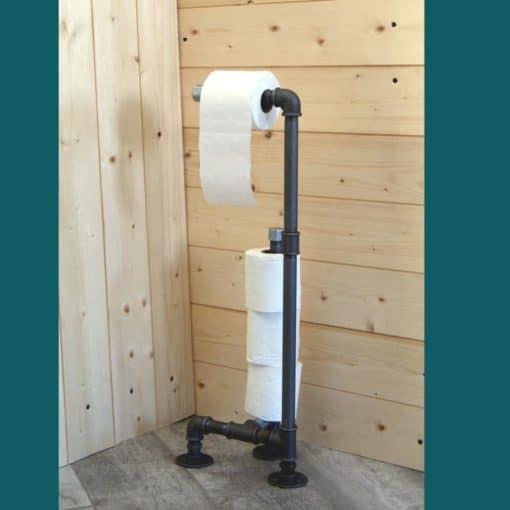 porte papier toilette avec reserve à poser