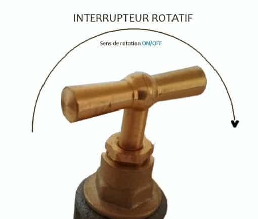 Robinet interrupteur rotatif industriel