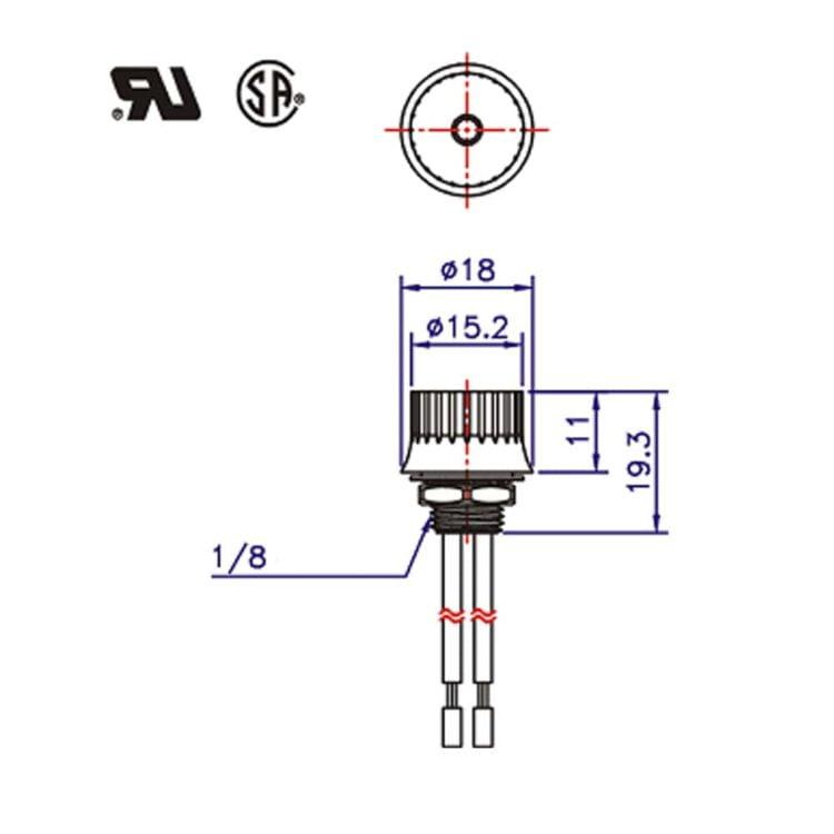 Interrupteur rotatif ZE-105M dimensions