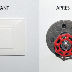 interrupteur rotatif style industriel