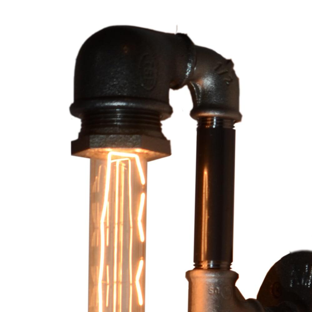 Fabriquer Une Lampe Style Industriel applique tube style industriel