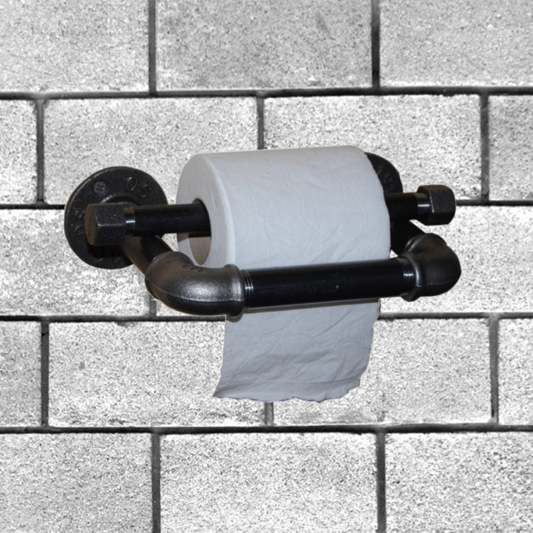 porte papier toilette tube acier